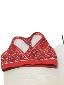 Athleta Red Print Bathing Suit Top/Running Bra Size Medium