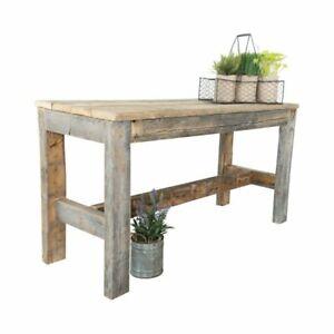Wood Entryway Storage Shelf Bench Hall Seat Natural Finish