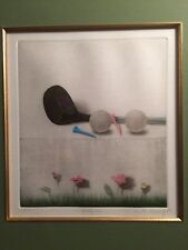 Kyu-Baik Hwang, Golf 2, Mezzotint on Paper/ Print Signed and Numbered 60/100