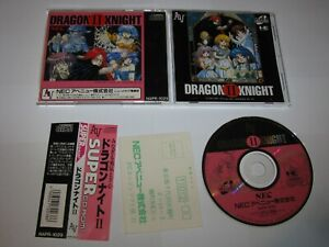 Dragon Knight II PC Engine Super CD Japan import + spine reg card US Seller