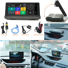 """4G Bluetooth Car DVR GPS Navigation Dual Camera Android 5.0 6.86"""" Touch Dashcam"""
