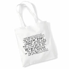 ART Studio Tote Bag i testi BEATLES stampa ALBUM POSTER palestra spiaggia shopper regalo