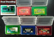 5Pcs Nintendo Pokemon Sapphire/Emerald /FireRed/LeafGreen/Ruby GBM/GBA/SP/NDS