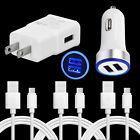 For LG V60 V50 V40 V35 V60 ThinQ USB Plug Car Wall Charger Type C Cable Cord 3FT