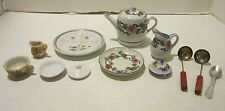 Lot of 10 pc child size including Japan porcelain & 3 pc utensils