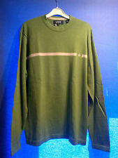 NEW MENS MAINE 100% COTTON GREEN JUMPER LONG SLEEVE SKI WINTER YACHT CLUB SIZE M