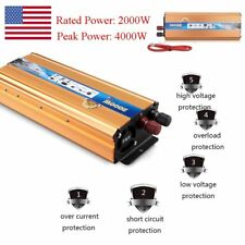 4000W Peak Modified Sine Wave Power Inverter DC 12V to AC 220V Car Converter