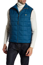 NWT Timberland Galehad Quilted Golf Vest Size Large Legion Blue Teal
