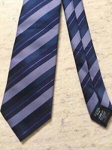 "Next navy/purple striped mix smart formal tie 3.25"" wide 57"" long"