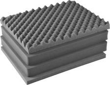 4 Piece Pelican 1600 Replacement foam 2 SOLID middle, 1 con lid, 1 bottom pad.