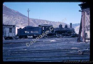 D&RGW #464 K-28 2-8-2 Narrow Gauge April 1966 ORIGINAL KODACHROME SLIDE