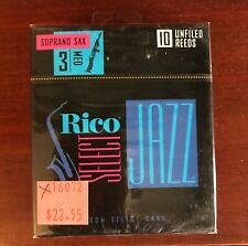 4 BOXES Rico Select Soprano Sax Reeds 3-Medium 10 Unfiled Old Stock Never Sold