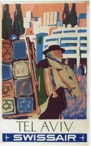 Original vintage poster ISRAEL TEL AVIV SWISSAIR 1951