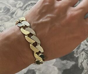 Bvlgari 18K Yellow And White Gold Curb Link Bracelet