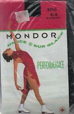 MONDOR 3310 Girl's Performance Footed Figure Ice-Skating Tights Sz 6-8 Black NEW