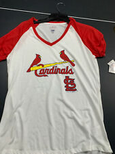 St. Louis Cardinals VNeck Short Sleeve Tshirt Adult Womens Medium World Champs
