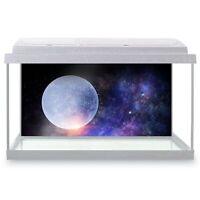 Fish Tank Background 90x45cm - Full Moon Sky Stars Milky Way  #21560