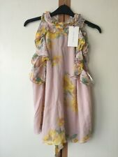 ZARA PINK FLORAL TOP BLOUSE SIZE S 8 10