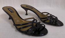 Authentic Dolce & Gabbana Black Patent Sandals Sz. 36.5