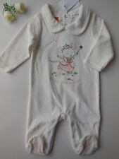 'PUMPKIN PATCH' FAIRY MOUSE SOFT VELOUR BABY GIRL COVERALL SIZE 000 FITS 0-3M