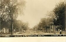 A View of Harris Street, Looking South, Lisbon Nd Rppc