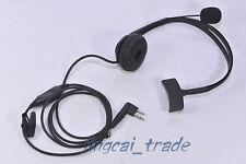 Overhead Auriculares Auriculares Para Motorola GP300 CP200 TC600 TC700 w. boom mic Hyt