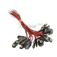 20 Pcs 9 Volt Battery Snap-on Connector Clip With Wire Holder Cable Leads Cord
