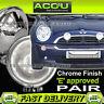 """Ring Chrome-Lite 12v Car 4.5"""" Chrome Round Driving Halogen Spot Lamps Lights"""
