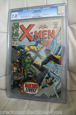 CGC 7.0 FN/VF VERY FINE THE X-MEN # 36 MEKANO APPEARANCE WHITE PAGES