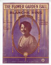 BLANCHE RING Sheet Music 1913 The Flower Garden Ball