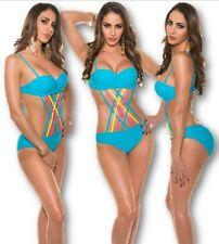 monoquini en flechtoptik Cutout corte Bañador BRASIL Bikini BODY Tankini gogó