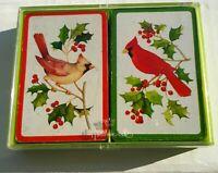 Vintage Hallmark Cardinal Birds Bridge Playing Cards 2 Decks Red & Yellow Birds