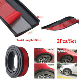 45mm Car Wheel Fender Extension Flares Arch Protector Rubber Moulding Retrofit