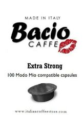 BACIO EXTRA STRONG 100 capsules compatible with MODO MIO* 100% Pure Coffee
