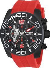 Invicta 22810 Men's Pro Diver Black Dial Black IP Steel Red Silicone Strap Watch