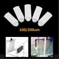 "5/10pcs 4x15"" Filter Sock Bag Ring 100-200 Micron Marine Fish Sump Aquarium Tank"