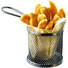 Mini Cromo Chip freír freidora, sirviendo comida presentación Cesta De Cocina Estrellas
