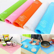 Silicone Rolling Cut Mat Fondant Clay Pastry Icing Dough Cake Tool Rolling Pin