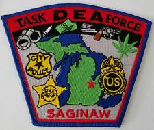 DEA Drug Enforcement Administration Task Force Saginaw Cloth Patch