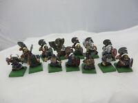 Warhammer Dwarf Warriors army lot painted plastic oop