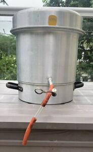 Entsafter Fruchtentsafter Dampfentsafter Einkochtopf Aluminium DDR