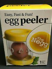 The NEGG  Boiled Egg Peeler - Yellow