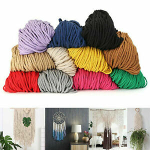 5mm Cotton Macrame Cord Rope Thread DIY Craft Woven String Decoration