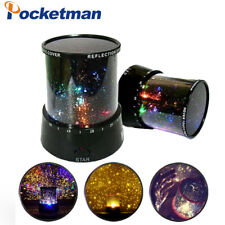 LED Night Light Star Lighting Lamp Romantic Rotating Cosmos Moon Projector Room