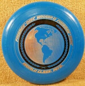 Vintage 1980 Original Wham-O Frisbee Disc Blue 141 Gram World Class