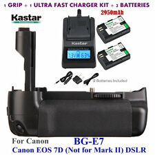 BG-E7 Grip + 2 x LPE6 Battery & Charger for Canon LP-E6 and EOS 7D Digital SLR