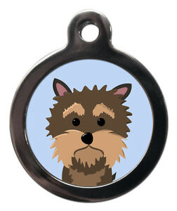 Breed Pet Tags Yorkie Yorkshire Terrier Pet ID Tags-Personalised Disc For Collar