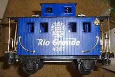 Scientific Toys Lionel G Scale Rio Grande Blue Caboose (Used)