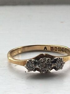 antique 18ct gold diamond ring