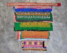 Rare Antique Banjara Tribal Kuchi Belly Dance Hand Embroidery Trims Patch 6X Lot